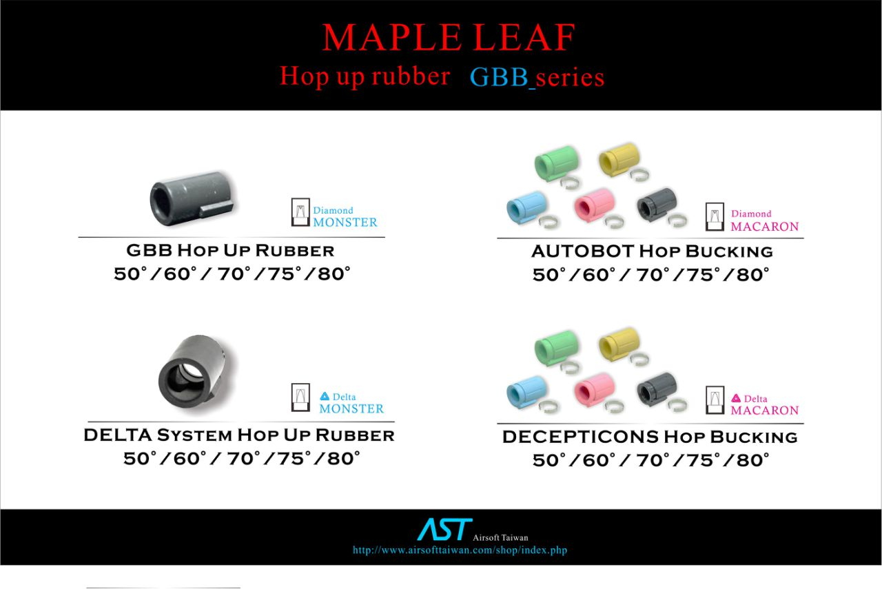Maple Leaf AUTOBOT Hop Bucking 75° for Marui WE GBB