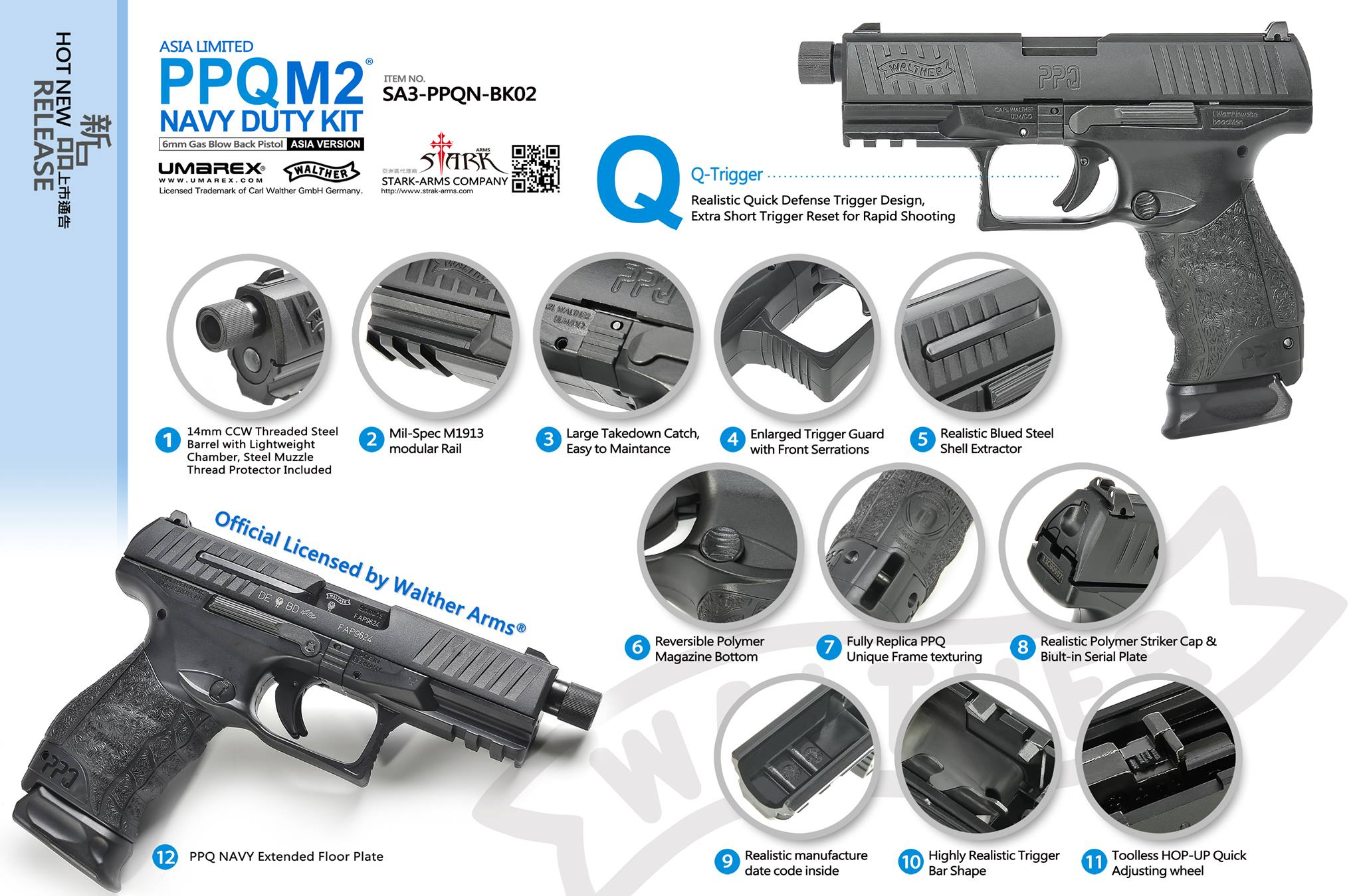 Stark Arms PPQ M2 Navy Duty Kit ( Walther Licensed )